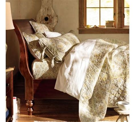 pottery barn queen bed ashby sleigh bed rustic mahogany stain pottery barn
