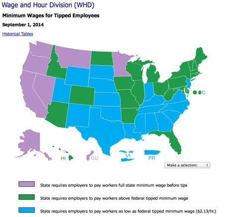 minimum wage in every state why do americans tip so much henry