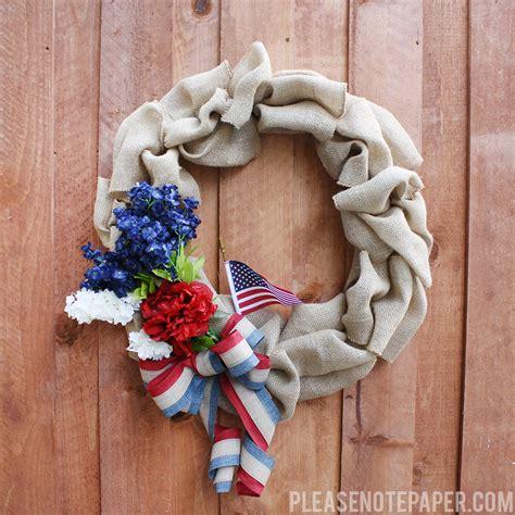 wreaths diy please note diy patriotic burlap wreath
