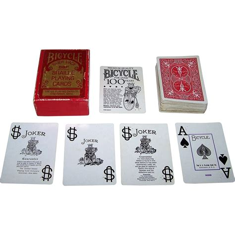 united states card company bicycle cards box template uspc braille cards quot bicycle 88f quot brand c 1970s