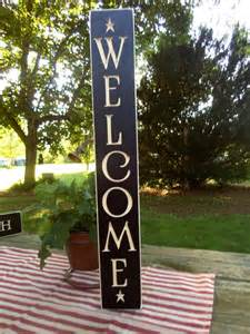 home decor in usa 24 quot black primitive wood sign quot welcome quot rustic country