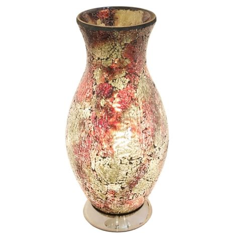 Crackle Glass Vase Table L by Crackle Glass Vase L Mosaic Table L