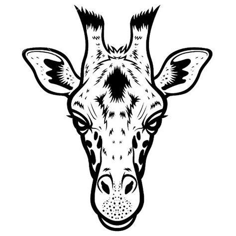 simple giraffe head tattoo design