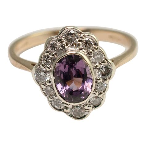 violet spinel and cluster ring plaza jewellery