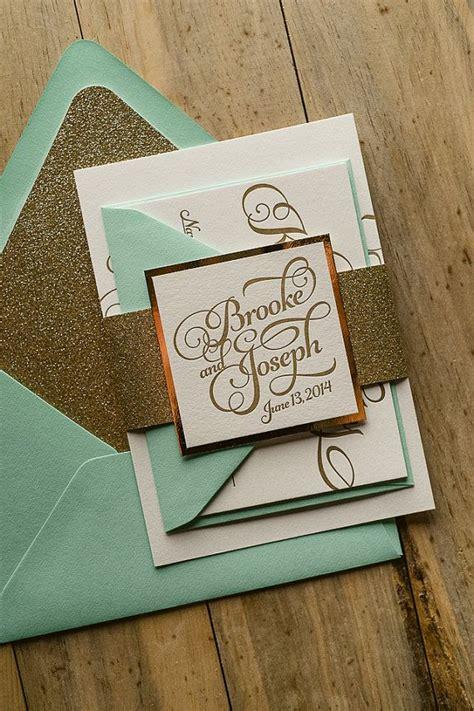 mint wedding invitations uk i like the font more than anything mint gold wedding
