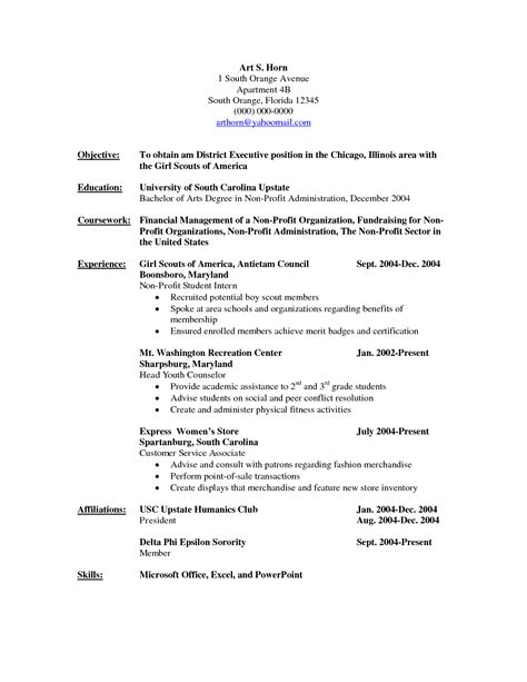 sle resumes for non profit positions resume objective non profit free professional resume