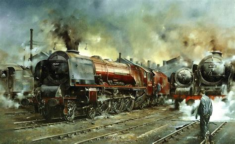 painting trains railway paintings by artist cowley gra