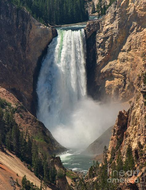 yellowstone lower falls waterfall in yellowstone yellowstone lower falls closeup photograph by charles kozierok