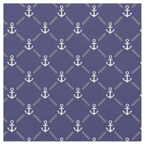 Fabric Pattern Anchor | anchor pattern fabric zazzle