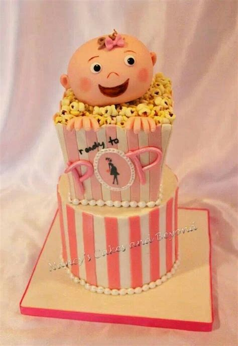 Popcorn Baby Shower Theme by Ready To Pop Popcorn Theme Baby Shower Cake For A