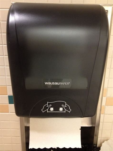 bathroom hand towel dispenser hand dryers accused of spreading a heck lot of germs