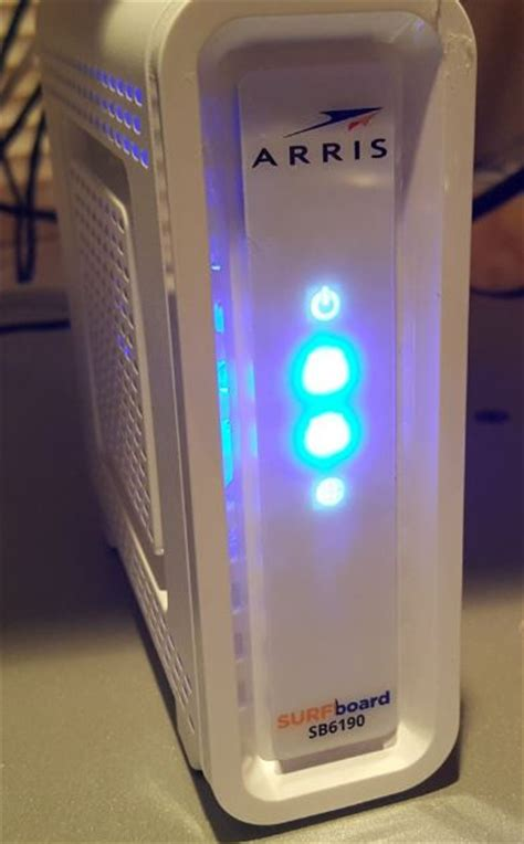 arris surfboard sb6190 lights best fastest and most reliable cable modems 2017 2018