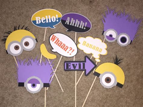 Props Decoration by Minion Photo Booth Props Check Out My Other Minion