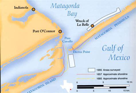 matagorda texas map the