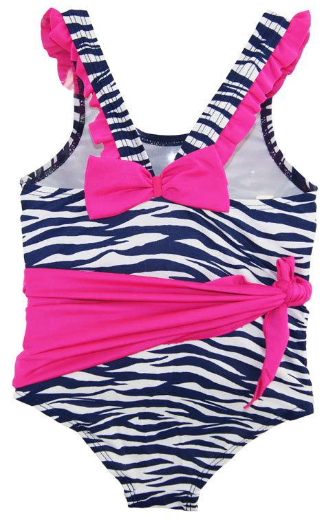 Number Print Swimsuit number one toddler zebra print one