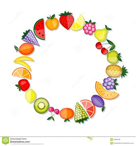 c fruit plano energy fruits vector frame for your design royalty free