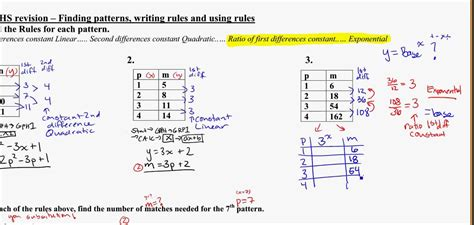 find a rule pattern using tables yr 11 graphs find the rule from table exponential youtube