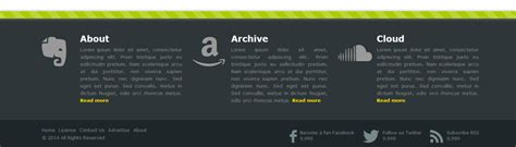 footer template html stylish responsive footer
