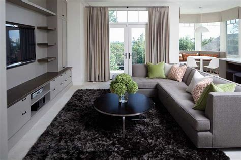 color rug    gray couch home decor bliss