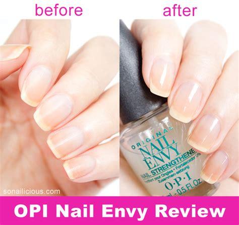 Review Opi Nail Envy by Opi Nail Envy Review Before And After Sonailicious