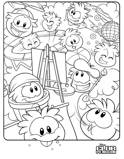 Club Penguin Coloring Pages To Print clubpenguin cheats awsome cp cheats invitations ideas