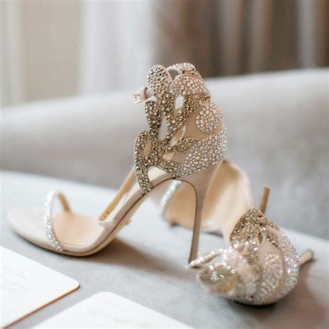 Wedding High Heels For Brides by Chagne Wedding Shoes Rhinestone Stiletto Heels Bridal
