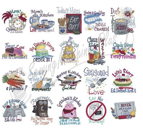 kitchen embroidery designs dakota collectibles kitchen talk embroidery designs