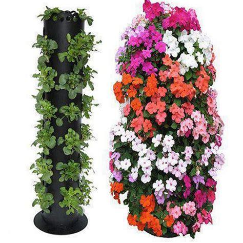 Vertical Fruit Garden Polanter Vertical Gardening System Black Plants Fruit