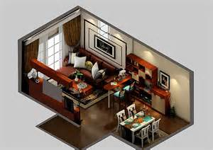 Design A Room 3d modern living dining room and bar design 3d view