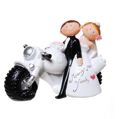 Motorrad Bilder Lustig Comic by Coole Hochzeit Tortenfigur Comic Brautpaar Mit Motorrad