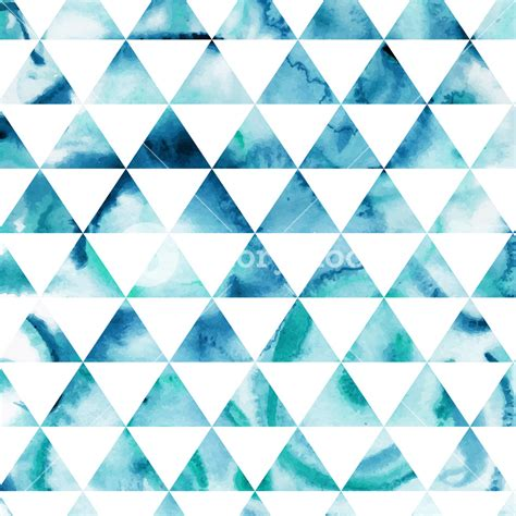 blue triangle pattern vector background vector watercolor triangles pattern modern hipster