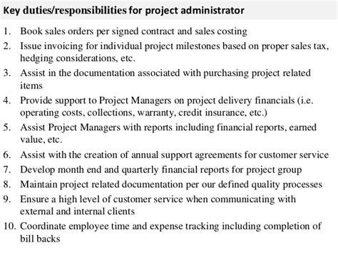 project administrator description