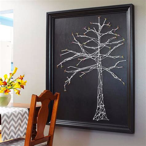 String On Canvas - 40 insanely creative string projects diy projects