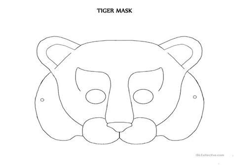 printable tiger mask template tiger mask worksheet free esl printable worksheets made