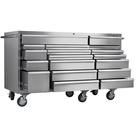 stainless steel rolling viper tool storage 72 inch 18 pro series 304