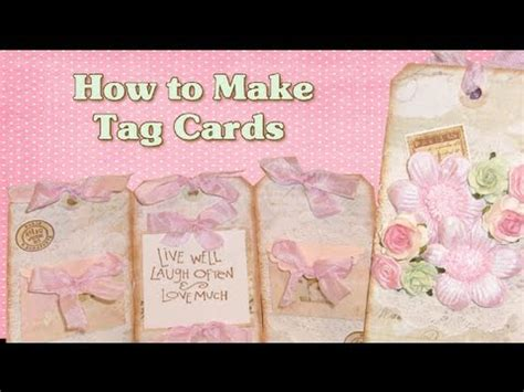 tutorial tags scrapbook scrapbook tag ideas tag cards tutorial youtube