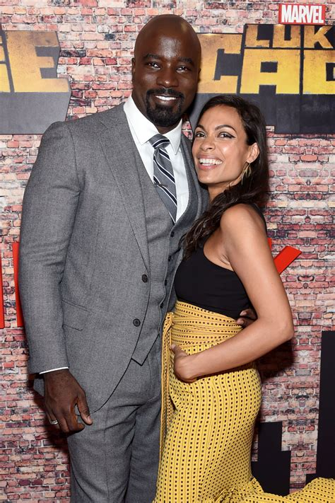 mike colter wife mike colter and rosario dawson at netflix s luke cage