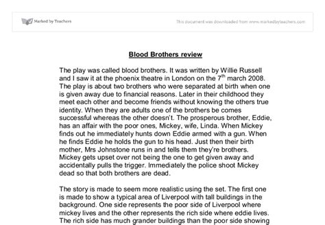 Blood Brothers Essay Help by Blood Brothers Essay Help 187 Tudor Dimofte Phd Thesis
