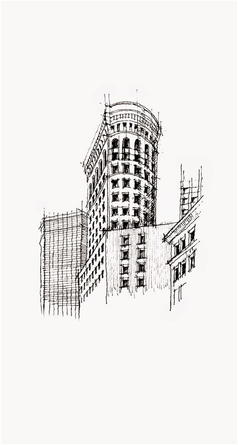 Sketches 4k Wallpaper by Flatiron Building Nyc Sketch Iphone 6 Plus Hd Wallpaper Hd
