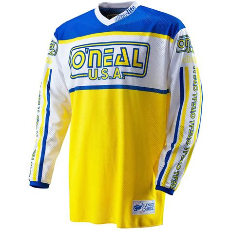 retro motocross gear oneal 2012 ultra lite le 83 mx vented shirt mtb road