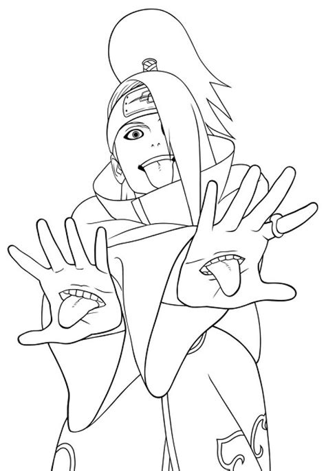 naruto coloring pages akatsuki anime pinterest
