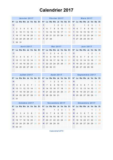 Grille Calendrier 2017 Calendrier 2017 224 Imprimer Gratuit En Pdf Et Excel
