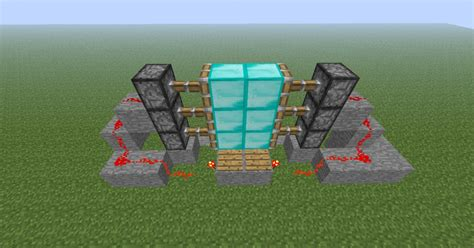 how to make a 3x2 piston door with pressure plates