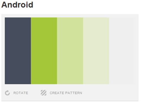 android color scheme android code fragments tip choosing a color palette theme