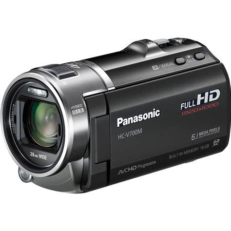 video camara full hd panasonic 16gb hc v700m full hd camcorder hc v700mk b h photo