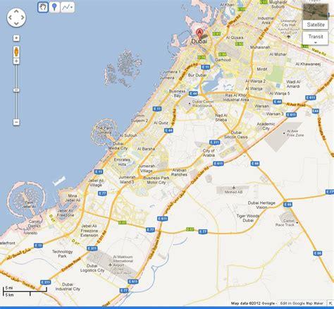 map  dubai