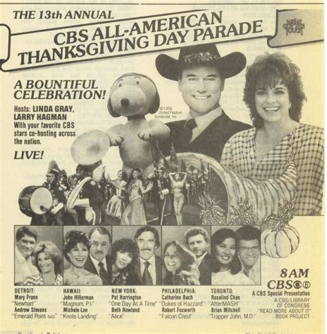 day tv guide 1983 cbs tv thanksgiving day parade ad what s on tv