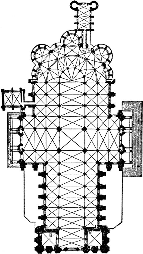 chartres cathedral floor plan chartres cathedral clipart etc