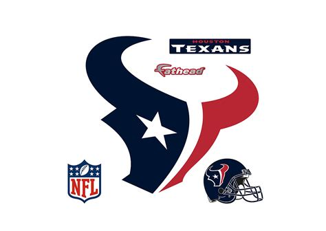 houston texans logo wall decal shop fathead 174 for houston