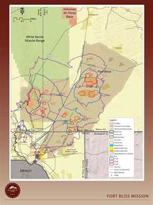 fort bliss texas map ft bliss map my